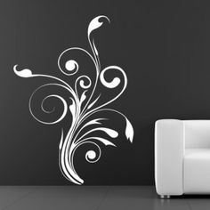 f85786590a4d Swirly Floral Decorative Embellishment Wall Stickers Wall Art Decal Wall  Decor Stickers