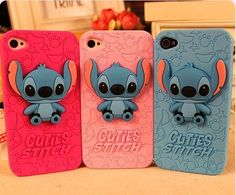 stitch silicone iphone 5 case, For those who adore the cartoon character, Stitch, here's one protective case for your iPhone that you can use to complete your collection. It's the limited edition case named Cuites Stereoscopic Stitch iPhone Back Cover. Iphone 6 Case Cover, Phone Cases Iphone6, Galaxy Phone Cases, Cool Iphone Cases, Cute Phone Cases, Iphone 6 Plus Case, Iphone 4s, Phone Covers, Apple Iphone
