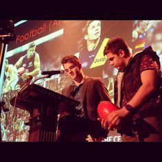 Australian students Jordy and Mitch told us a bit about their homeland this week. The best part was when they made fun of our fat American football players and fondness for fast food. We'll have to start watching Australian rules football!