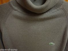 IZOD LACOSTE Mens Turtleneck sweater LARGE L Vintage VTG L/S Orlon Acrylic Mans #lacoste #sweater #ebay #forsale