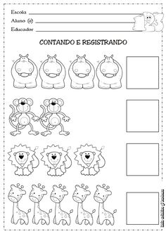 6 Small Medium Large Worksheet for Preschool Worksheets Kindergarten Math Worksheets, Learning Activities, Kids Learning, Numbers Preschool, Preschool Activities, Math For Kids, Kids Education, Pre School, Numeral 1