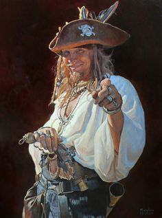 this lady moved in next to me.. brilliant artist.. lucky to know her.. Marylene Proner, Pirate with a Hat, 2008