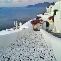 Santorini ... For one minute, walk outside, stand there in silence, look up at the sky and contemplate how amazing life is|▶  unknown   #santorini #greece
