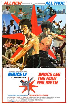 Bruce Lee: The Man, the Myth (1976) A highly fictionalized biography of the famous Bruce Lee, this movie traces his college life, his marriage to Linda Lee, his relationship with his master, and his untimely death. • Poster Art By: Neal Adams •