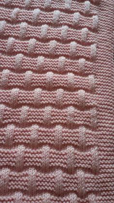 Lattice with seed stitch - Square knitting pattern Baby Knitting Patterns, Knitting Stiches, Knitting Charts, Free Knitting, Stitch Patterns, Crochet Patterns, Seed Stitch, Knitted Baby Blankets, Crocheting