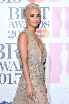 Rita Ora's pompadour and smoky eye. See 9 other celebrities whose late-winter beauty looks stunned.