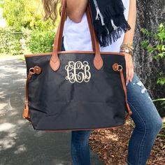 Monogram Black Tote Bag – I Love Jewelry Monogram Jewelry, Monogram Tote, Personalized Jewelry, Clean Gold Jewelry, I Love Jewelry, Jewelry Rings, Glamour, Runway Fashion, Fashion Trends