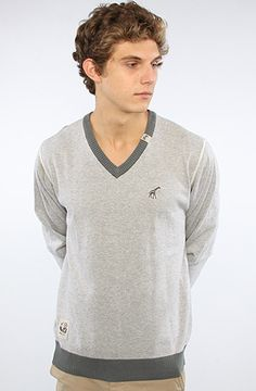 The Core Collection V-Neck Sweater in Ash Heather by LRG Core Collection