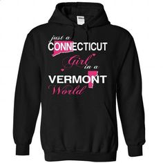 CONNECTICUT GIRL IN VERMONT - #tshirt serigraphy #grey sweater. MORE INFO => https://www.sunfrog.com/Valentines/CONNECTICUT-GIRL-IN-VERMONT-Black-Hoodie.html?68278