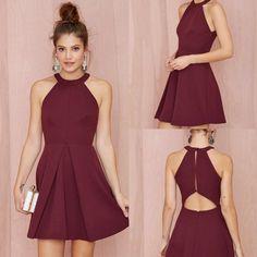 Short Homecoming Dress, Jersey Homecoming Dress, Knee-Length Homecoming Dress, Sleeveless Homecoming Dress, Lovely Junior School Dress, DA846