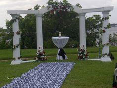 DIY Wedding Arch   lace sleeves wedding dress diy lace wedding winter wedding bouquet wed ...