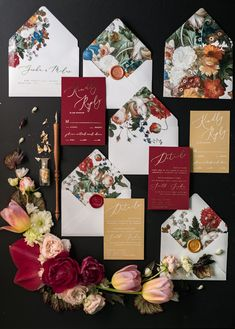 Burgundy and gold vintage wedding invitations #weddings #weddingcards