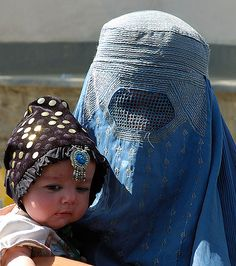 Afghani woman and child.