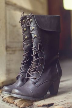 Lace up boots---> with skinny jeans and sweater in the fall :) …