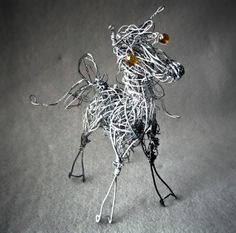 Whimsical Wire Horse Arabian Horse  Metal Horse by WireArtInk, $28.00