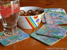 Make travel mugs and coasters out of Disney World maps.   36 DIYs That Will Get The Whole Family Psyched For A Disney Vacation