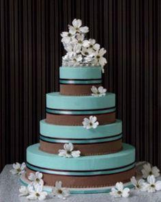 Pretty two tone cake.