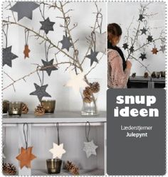 Læderstjerner   - stof2000.dk Christmas Time, Xmas, Christmas Ideas, How To Be Likeable, Ikon, Diy Projects, Diy Crafts, Creative, Interior