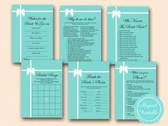 Tiffany Bridal Shower Printables - Magical Printable Tiffany Theme, Tiffany Party, Tiffany Blue, Bridal Shower Photos, My Bridal Shower, Bridal Showers, Tiffany's Bridal, Bridal Bingo, Blue Bridal