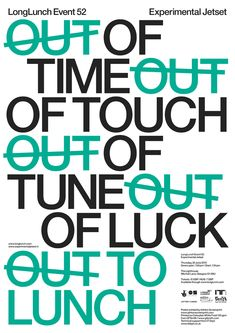 mindthat: Experimental Jetset: LongLunch 52, The... | Must be printed