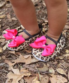 Look what I found on #zulily! Cheetah Bow Mary Jane Made With SWAROVSKI ELEMENTS by Diva Daze #zulilyfinds