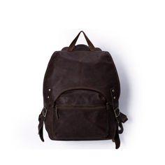 ROCKCOW Vintage Style Handmade Leather Backpack, Casual Backpack, School Backpack 5106 - ROCKCOWLEATHERSTUDIO