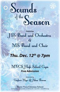 """Sounds of the Season"" December 12th at Monte Vista Christian School"