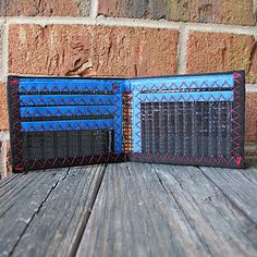 USA Made Vegan Built to Last Neon Orange Made Right Card Sleeve ID Wallet