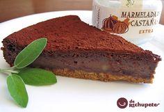 Esta tarta es una combinación de sabores de este exquisito fruto, la castaña, el toque del marron glace y un deje final a chocolate. Todo ello gracias a la mermelada de castañas extra de Terra de Baronceli, comarca de Monterrei.