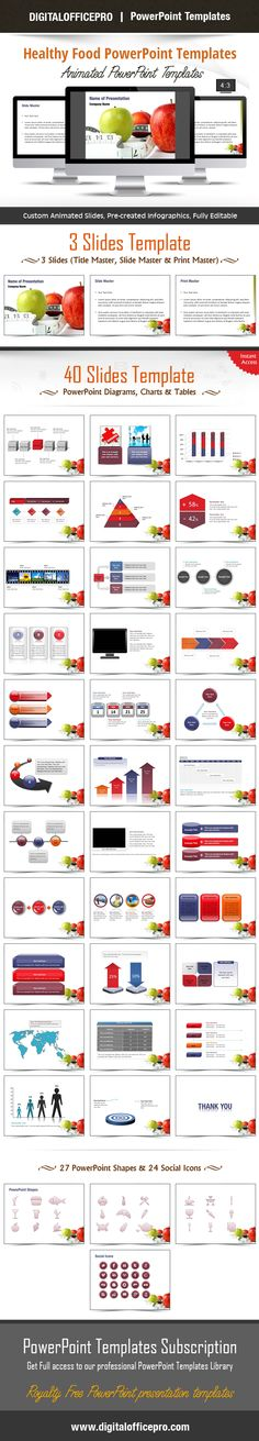 Organic healthy foods powerpoint templates by fppt templates healthy food powerpoint template backgrounds toneelgroepblik Image collections
