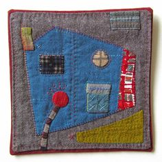 """Victoria Gertenbach (The Silly BooDilly): """"Blue Barn with Red Poppy"""", 6"""" x 6"""""""
