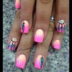 #dreamcatcher #nails #nailart