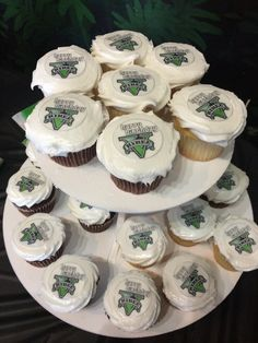 Cupcakes made at Walmart and edible paper used to create custom look for under $20