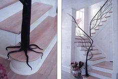 Unique stair railing