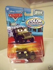Disney / Pixar CARS Movie 1:55 Die Cast Car Color Changers Sarge by Mattel. $27.99. Disney / Pixar CARS Movie 155 Die Cast Cars Color Changers Sarge. Disney / Pixar CARS Movie 155 Die Cast Cars Color Changers Sarge
