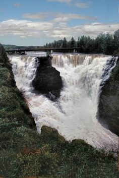 This is a photo of Kakabeka Falls, Canada's second largest water fall. Its located in North Western Ontario.