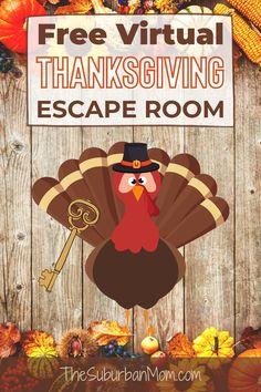 Thanksgiving Virtual Escape Room - The Suburban Mom