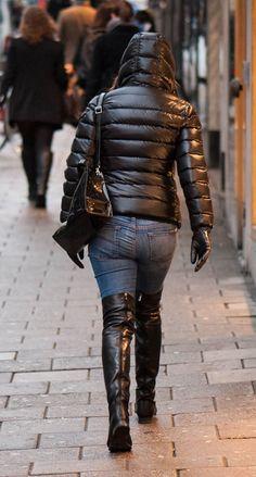 Flat Leather Boots, Flat Boots, Nylons, Primark, Moncler, Zara, Puffer Jackets, Women's Jackets, Fashion Branding