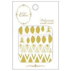 Clou Japanese Nail Art Sticker / Halfmoon & Chevron / Gold Foil