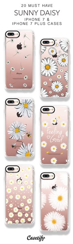 20 Must Have Sunny Daisy iPhone 7 Cases & iPhone 7 Plus Cases here > https://www.casetify.com/collections/top_100_designs#/?vc=J3pamkizzw