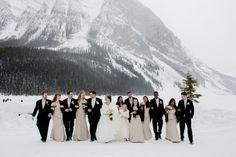 Blush & Ivory Chateau Lake Louise Winter Wedding|Photographer: ENV Photography