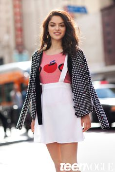 Odeya Rush of The Giver in a Wren suspender skirt in Teen Vogue - get yours @bonadragshop