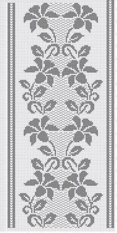Techniques To Boost Sales on the business of interior design (Pattern) - Crochet Filet Filet Crochet Charts, Crochet Cross, Crochet Motif, Crochet Stitches, Crochet Patterns, Cross Stitch Borders, Cross Stitch Designs, Cross Stitch Patterns, Crochet Table Runner Pattern