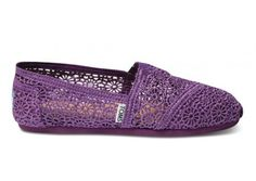 Hmmm...might have to be my wedding shoes!  Purple Crochet Women's Classics FREE Shipping | TOMS.com #toms