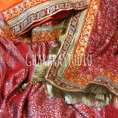 Gharara in Red & Orange colour. Bridal Gharara with handwork embroidery on dupatta.  #Gharara #ghararastudio #ghararastudiobyshazia #wedding #weddinggharara #bride #bridal #bridalgharara #nikah #reception #walima #kamkhwab #handwork #handcraft #glamour #glamorous #royal #royalty #fashion #fashionable #fashionblog #fashiongram #fashionista #fashionblogger #instafashion #instapic #instalove #picoftheday #sangeet #bridesmaid #bridetobe
