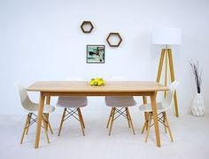 Custom Made The Santa Monica, Mid Century Modern Solid Cherry Dining Table