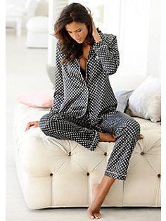Lascana - Stilvoller Satin-Pyjama, LASCANA, trageangenehme Qualität, in 3 edlen Varianten