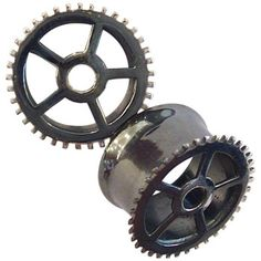 Oxidized Silver Gear Plugs