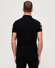 Mens - Classic Superstate Pique Polo Shirt in Blackboard Polo Shirt Style, Pique Polo Shirt, Polo Shirts, Polo Classic, Superdry Mens, Coton Biologique, Superstar, Polo Ralph Lauren, Mens Facial