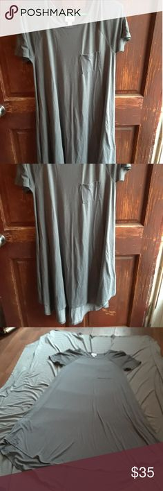 Lularoe solid carly dress Excellent condition xs dress with small breast pocket LuLaRoe Dresses